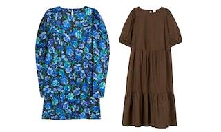 hm trend tunika klänning guldkjedjatryck