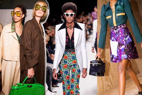 70-talet dominerar även våren 2020! Fendi, Paco Rabanne och Louis Vuitton.