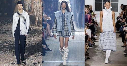 Somrig denim hos Dior, Isabel Marant och Proenza Schouler SS19.
