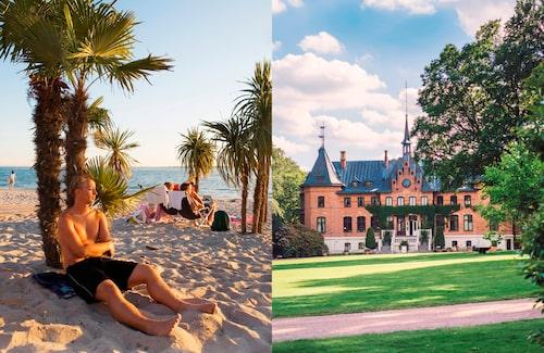 I Helsingborg kan du besöka både Tropical beach och Sofiero slott. Bilturen emellan tar bara en kvart.