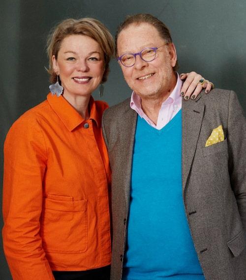 Konstexperten Claes Moser och stylisten och designern Sanna Evers möttes i den gemensamma kärleken till färg.