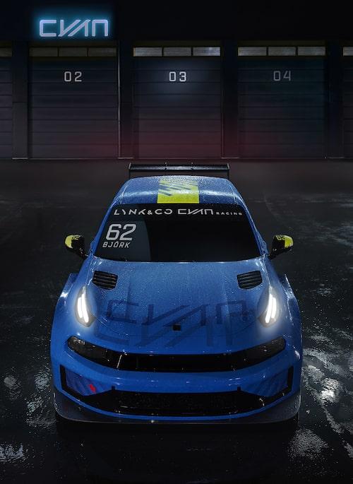 Bilen som Yvan Muller, Thed Björk och en ännu inte presenterad förare ska köra Lynk & Co 03 TCR i WTCR-mästerskapet 2019.
