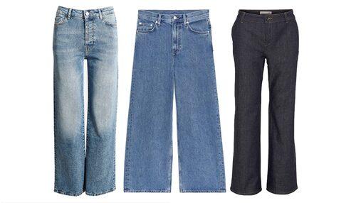 Vida jeans med hög midja är ett säkert trendkort för våren 2020.