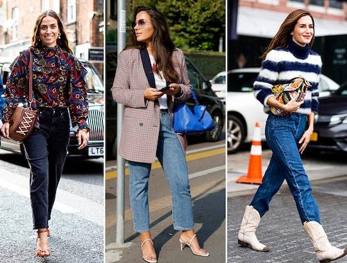 Styla dina mom jeans till kavaj eller blus för en ledig kontorslook.