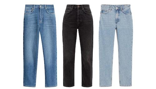 Snygga mom jeans för en avslappnad stil.