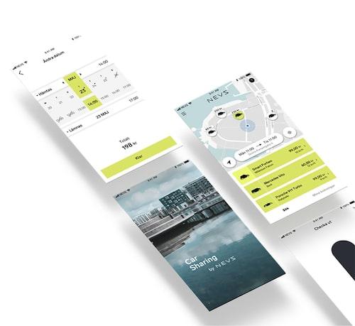 En förhandstitt på Nevs bildelnings-app.