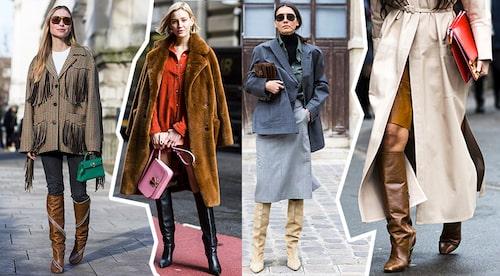 Styla knähöga stövlar klassiskt med jeans, till barbent när vädret tillåter, under kjol eller i en monokrom look med en jordnära färgskala.