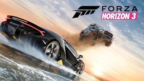 Officiella omslagsbilden till Forza Horizon 3.