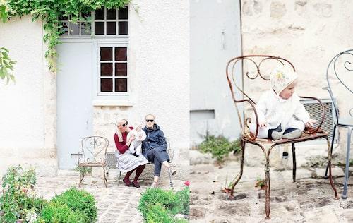 Familjen Sundh i pittoreska byn Milly-la-Forêt.