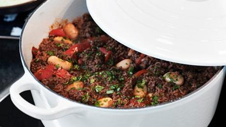 Recept på chili med mörk choklad.