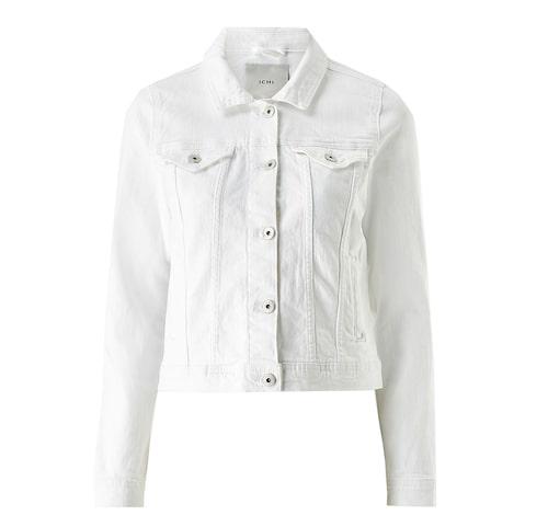 Kort, vit jeansjacka från Ichi.