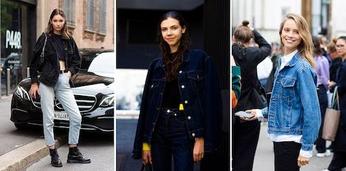 Vilken denimstil är mest du? Inspireras av streetstylelooks från modeveckorna.