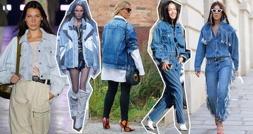Denim går aldrig ur tiden –maxa gärna jackan med hjälp av jeans i samma ton.