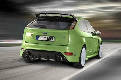 Ett år gammal officiell förstudieillustration av Focus RS.