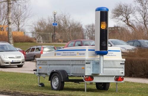 Utöver Sveriges nuvarande 1 500 fartkameror finns även 15 mobila fartkameror. Foto: Ulf Nilsson/Mimbild AB