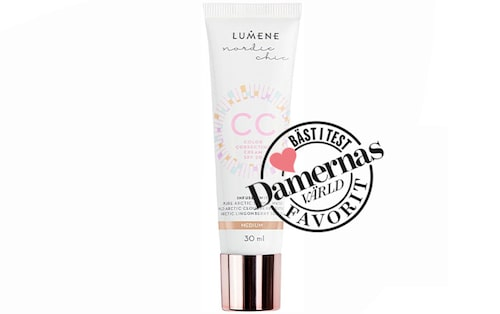 Recension på CC color correcting cream spf 20 från Lumene.