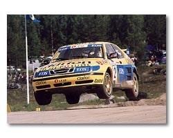 Per Eklunds Saab 9-3 rallycross