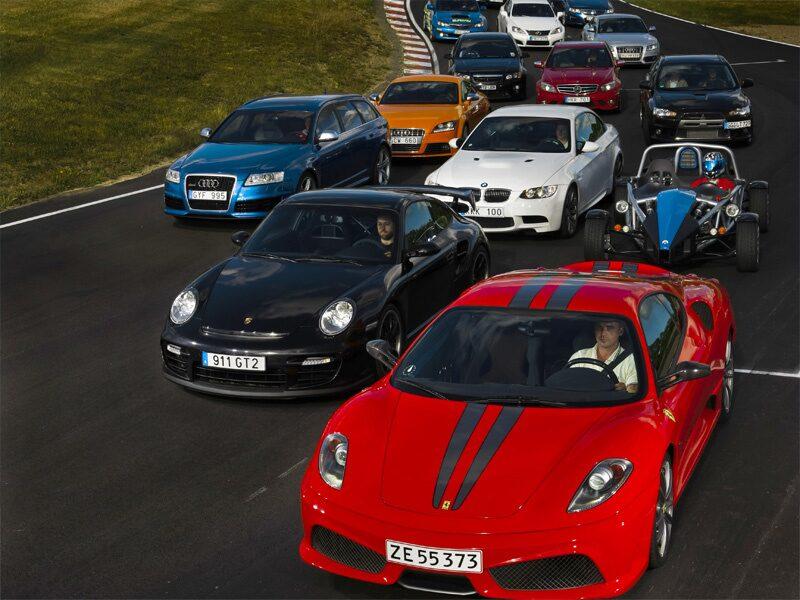 Bankalaset 2008 med 19 bilar vid startlinjen.