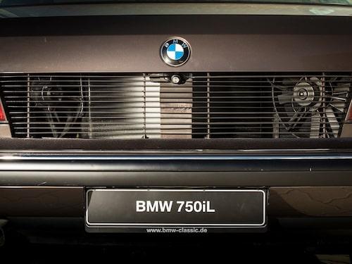 ... där bilens kylsystem, som normalt sitter bakom grillen i andra änden av bilen, är placerat.