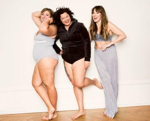 Emelie, Anna och Annika är kroppspositivister!