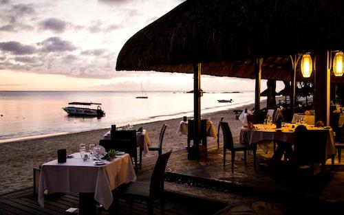 Middag i vattenbrynet på Club Med Pointe aux cannoniers.
