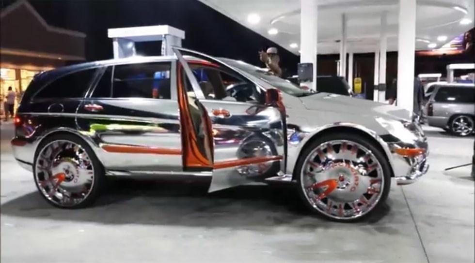Mercedes R 500 krom och 30-tumshjul!