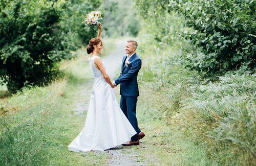 Brudparet Cecilia och Mattias.