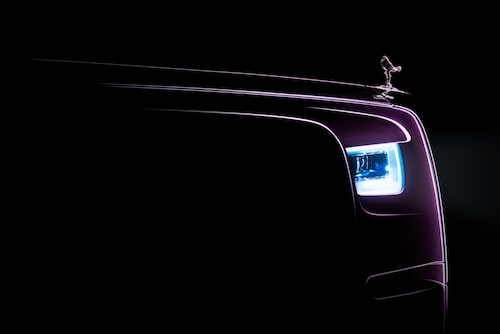 Teaserbild på nya Rolls-Royce Phantom VIII