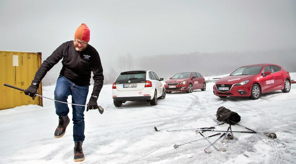 Skoda Rapid Spaceback, Peugeot 308 och Mazda 3