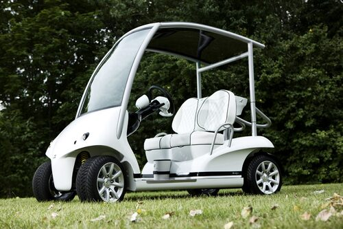 Golfbilen Garia byggs av Valmet och lanseras i Las Vegas den 1 september.