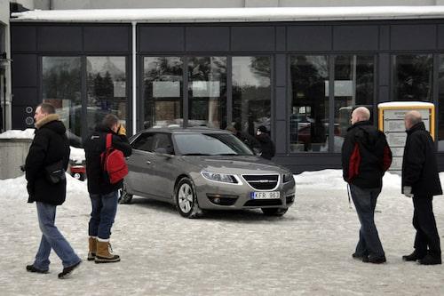 I fokus stod så klart nya Saab 9-5 som de flesta såg för första gången.
