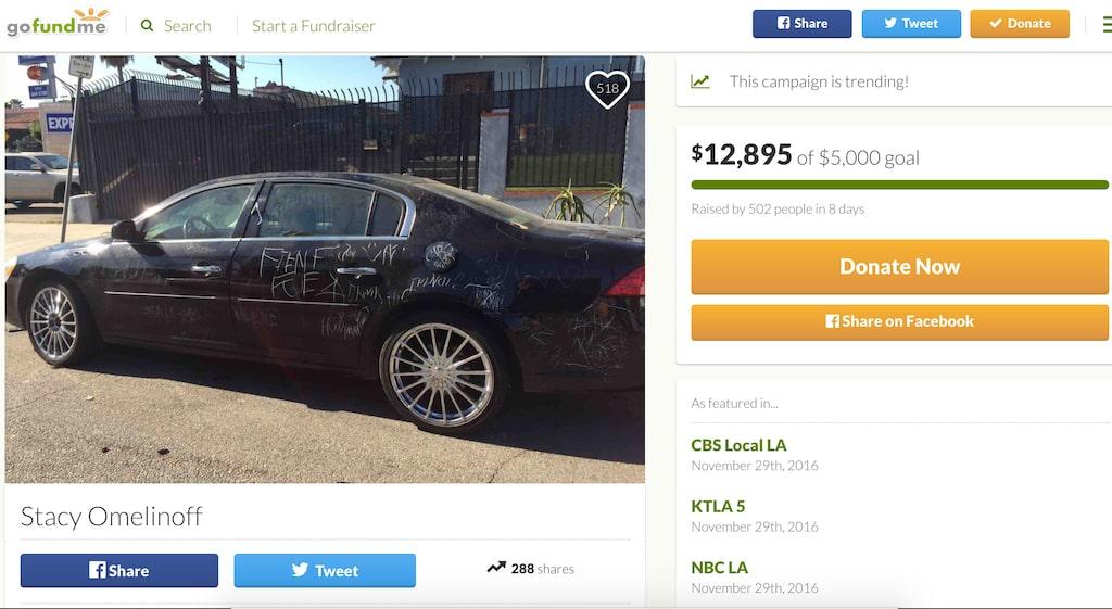 Stacy Omelinoffs historia berörde många. Nästan 13 000 dollar har samlats in.
