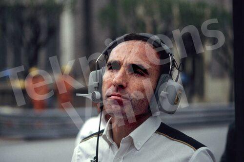 Bild 23. Frank Williams anno 1983. I år firar han 40 år inom Formel 1. Mått 50 x 35 cm.