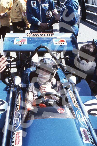 Bild 7. Jackie Stewart och March 701 på främsta startruta i Monaco 1970. Mått 50 x 70 cm.