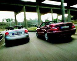 Audi S4 Cabriolet och Mercedes CLK 500 Cabriolet
