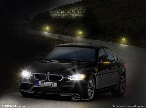 Nya BMW M3 Sedan i Black Sapphire Metallic