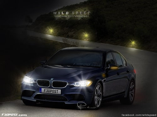 Nya BMW M3 Sedan i Imperial Blue Metallic