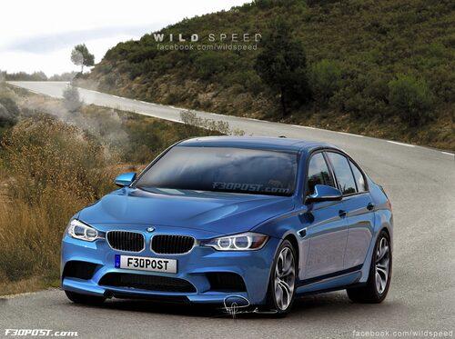 Nya BMW M3 Sedan i Estoril Blue Metallic
