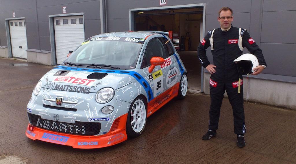 Linus Pröjtz med Fiat 500 i Trofeo Abarth