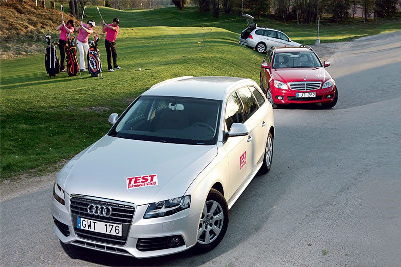 Nya Audi A4 Avant i test mot Mercedes C-klass kombi och BMW 3-serie Touring.