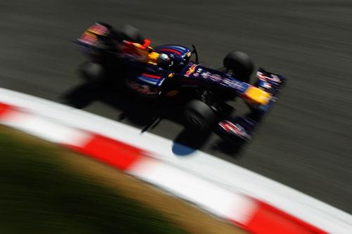 Vettel knep fjärdeplatsen efter extremt sent depåstopp.