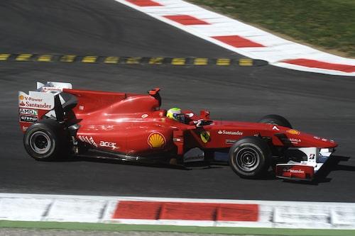 Massa höll tredjeplatsen från start till mål.