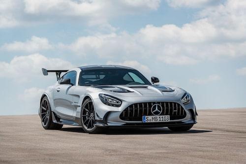 Grillen ser ut precis som på banbilen AMG GT3, men enligt Mercedes har den bara hämtat inspiration från tävlingsbilen.