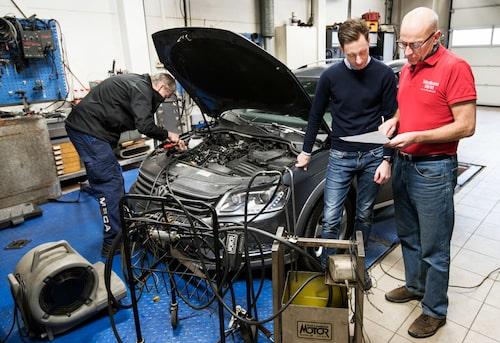 Erik Lehfeldt's Volkswagen Passat Alltrack is tested before and after the fix.