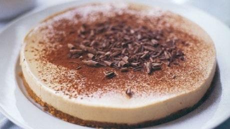 Cheesecake, cappuccino