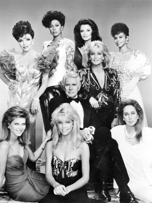 Dynastin-stjärnorna var trendledande på 80-talet. Joan hittar du längst upp till vänster.
