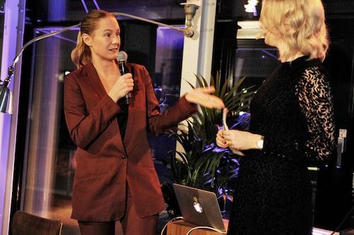 Tillsammans med Jenny Strömstedt på Årets mama den 13 november.