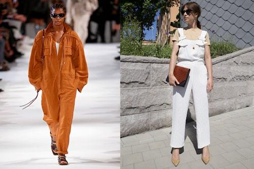 Från catwalk till vardags! T.v.: Jumpsuit från Stella McCartney. T.h: Lisa i jumpsuit från Stylein.