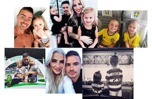 Privata bilder från Mikael Lustigs och Josefin Lustigs Instagram-konton.