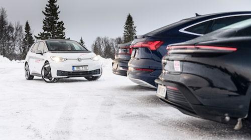 ID.3 må stå som testsegrare, men när det kommer till elbilsegenskaper är Audi och Porsche segrarna.